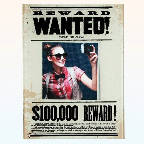 """Glasrahmen """"Wanted"""""""