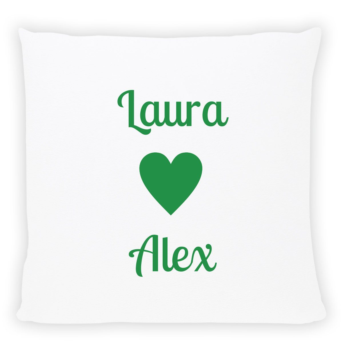 personalized pillow with names green