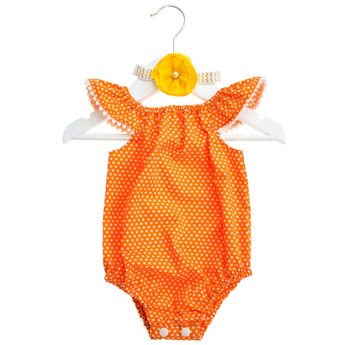 """Polka Dots"" baby-set med body & hårband"
