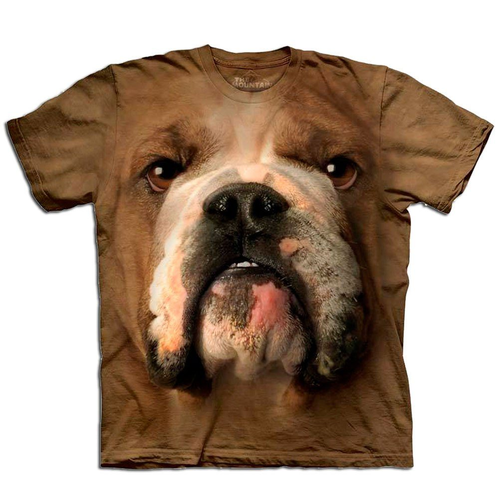 Big Face Pet T-shirt - Bulldog