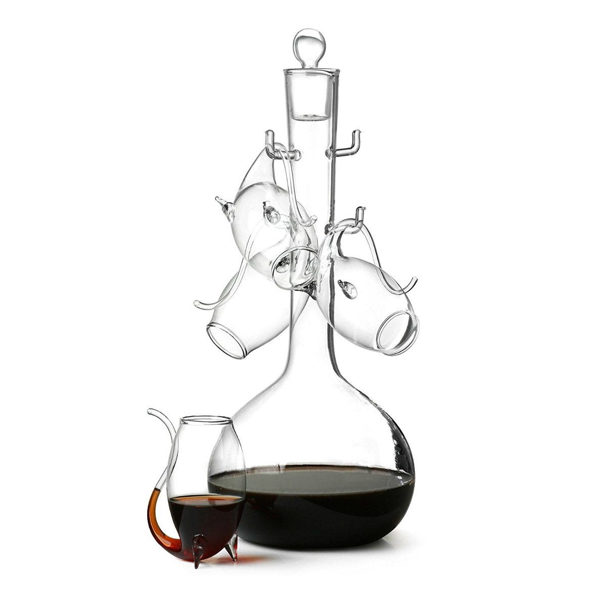 Liqueur Decanter and Sipper Glasses