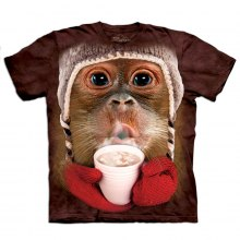 "Big Face t-shirt för barn ""Orangutang"""