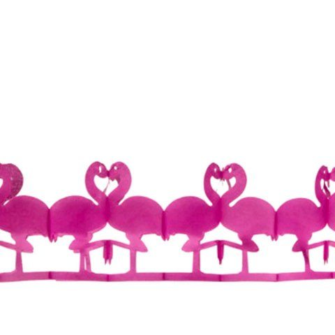 Paper garland flamingo 2